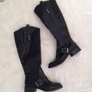 Sam Edelman Circus Roman black tall riding boots